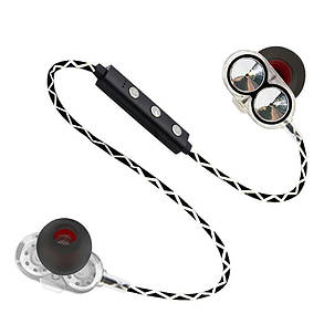 Bluetooth наушники Plymex H-13 Dual Driver Серые (3sw_009_1), фото 2