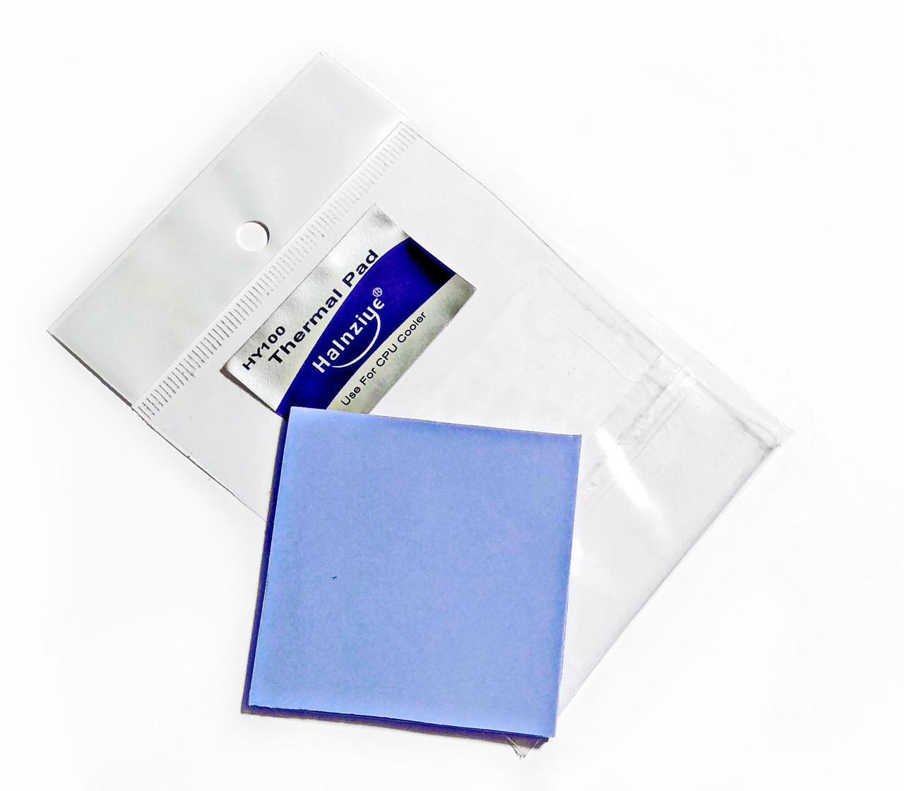 Термопрокладка Halnziye HC44 2.0мм 50х50 синяя 4 Вт/(м*К) термоинтерфейс для ноутбука (TPr-HC44)