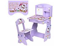 Парта со стульчиком Hello Kitty. M 0324-9