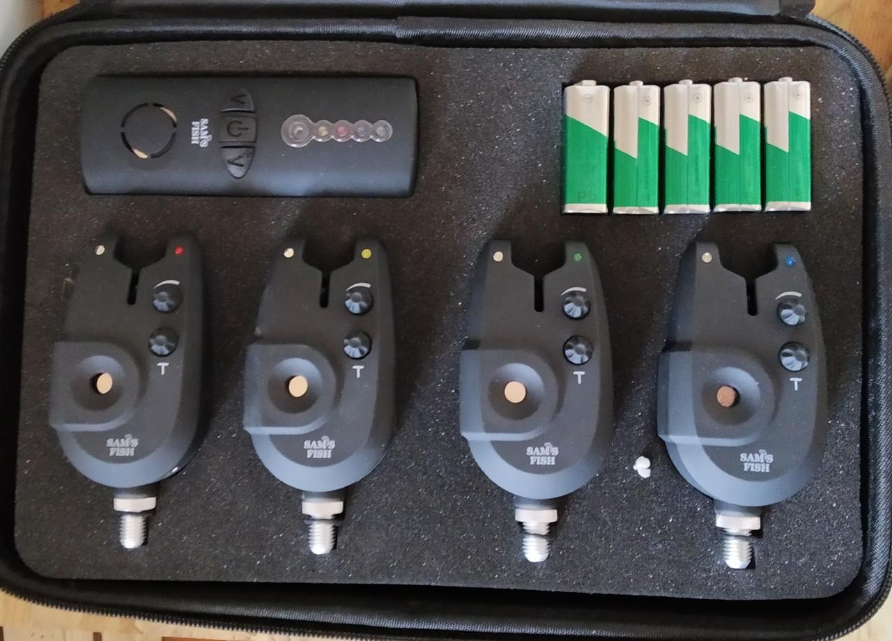 Набор сигнализаторов Feima 4 шт. + пейджер FA02-4