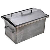 Коптильня горячего копчения металлическая 520х310х260 мм толщина метала 1 мм с гидрозатвором (РК-242500)