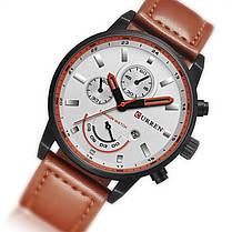Мужские часы CURREN 8217 White + Brown (3116-8680а), фото 3