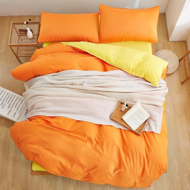 Комплект постельного белья  Цитрус, поплин, разные размеры евро