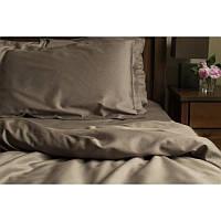 Однотонное постельное белье  Какао САСАО, сатин, разные размеры полуторный