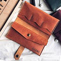 Кожаный кошелек Lucky Classic Рыжий (19026), фото 3