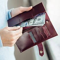 Кожаный кошелек Lucky Max Марсала (20018), фото 2