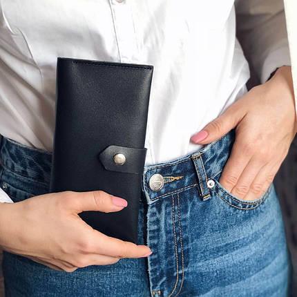 Кожаный кошелек Lucky Max Черный (200001), фото 2