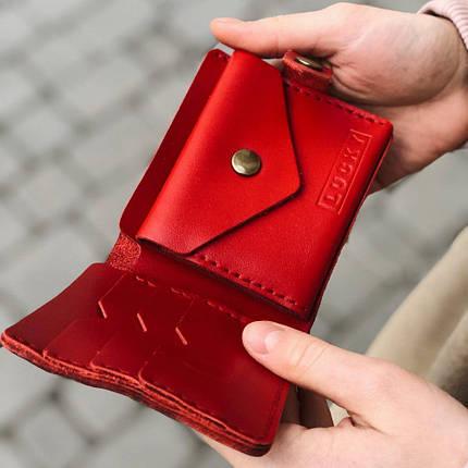 Кожаный кошелек Lucky Mini Красный (21006), фото 2