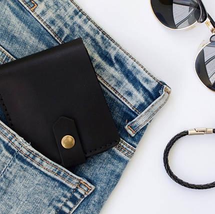 Кожаный кошелек Lucky Mini Черный (21001), фото 2