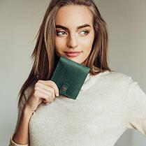 Кожаный кошелек Lucky Mini Зеленый (21017), фото 2