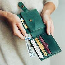 Кожаный кошелек Lucky Mini Зеленый (21017), фото 3