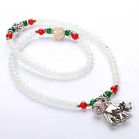Оригинальное женское ожерелье, украшенное кулонами, цвет - белый