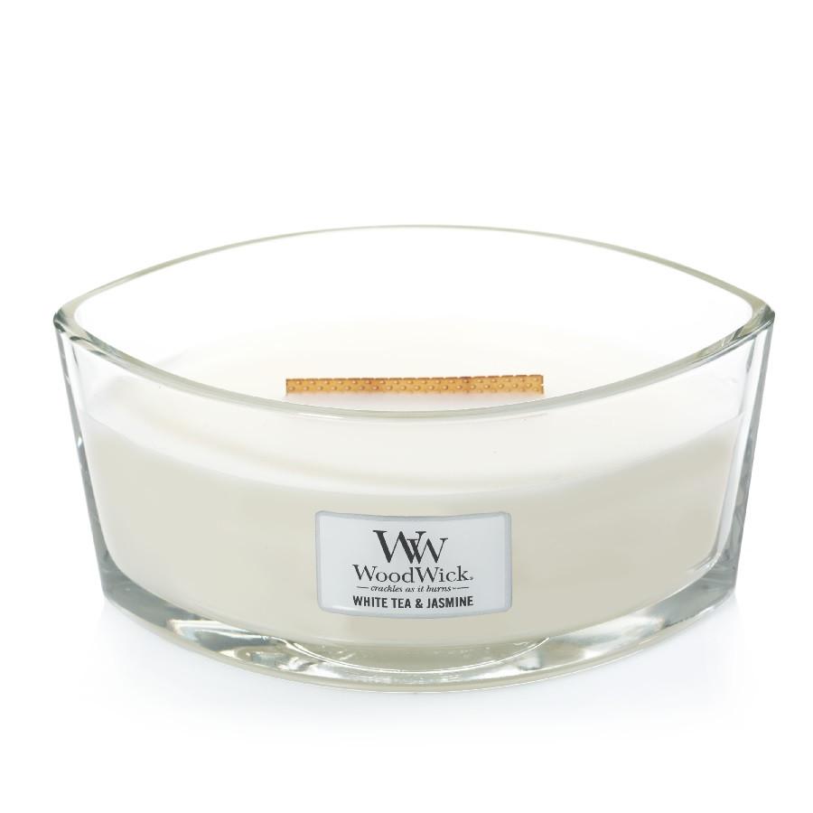 Ароматическая свеча Woodwick Ellipse White Tea & Jasmine 453 г (76062E)