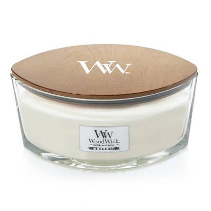 Ароматическая свеча Woodwick Ellipse White Tea & Jasmine 453 г (76062E), фото 2