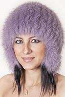 Шапка из натурального меха  на трикотажной основе  tksb8-009 Фиолет