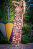 Платье модное с цветками