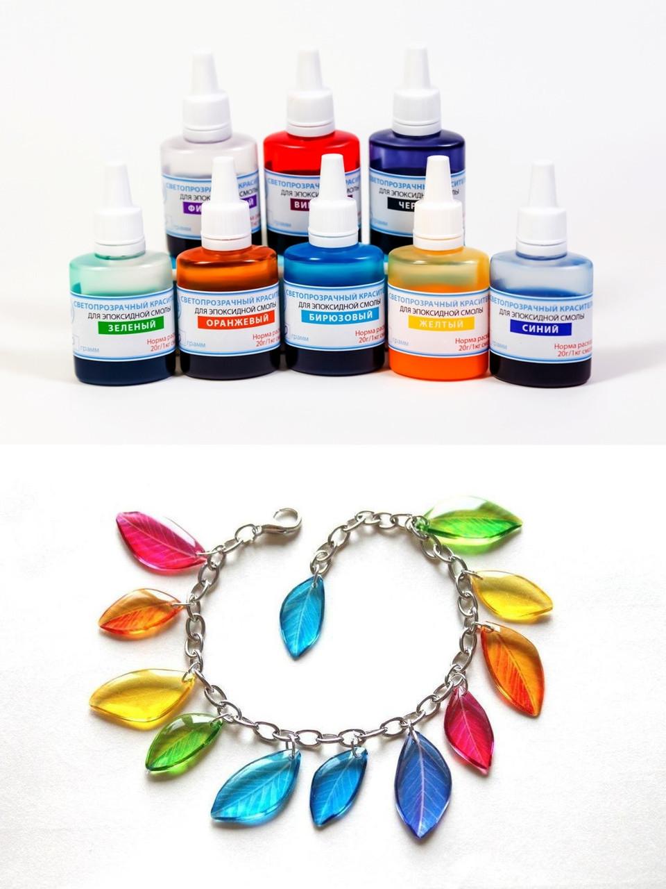 Светопрозрачные красители эпоксидной смолы Просто и Легко набор из 8 цветов по 20 г
