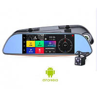 Зеркало регистратор Wistmart DVR D35/K35, 7 дюймов, 2 камеры, Sim карта, GPS навигатор, WiFI, Android