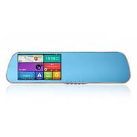 Зеркало регистратор Wistmart D22, 5 дюймов, 2 камеры, GPS навигатор, WiFI, 8Gb, Android