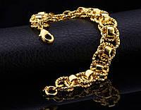 Позолоченный браслет женский код 728