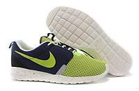 Кроссовки мужские Nike Roshe Run (найк роше ран) зелено-синие