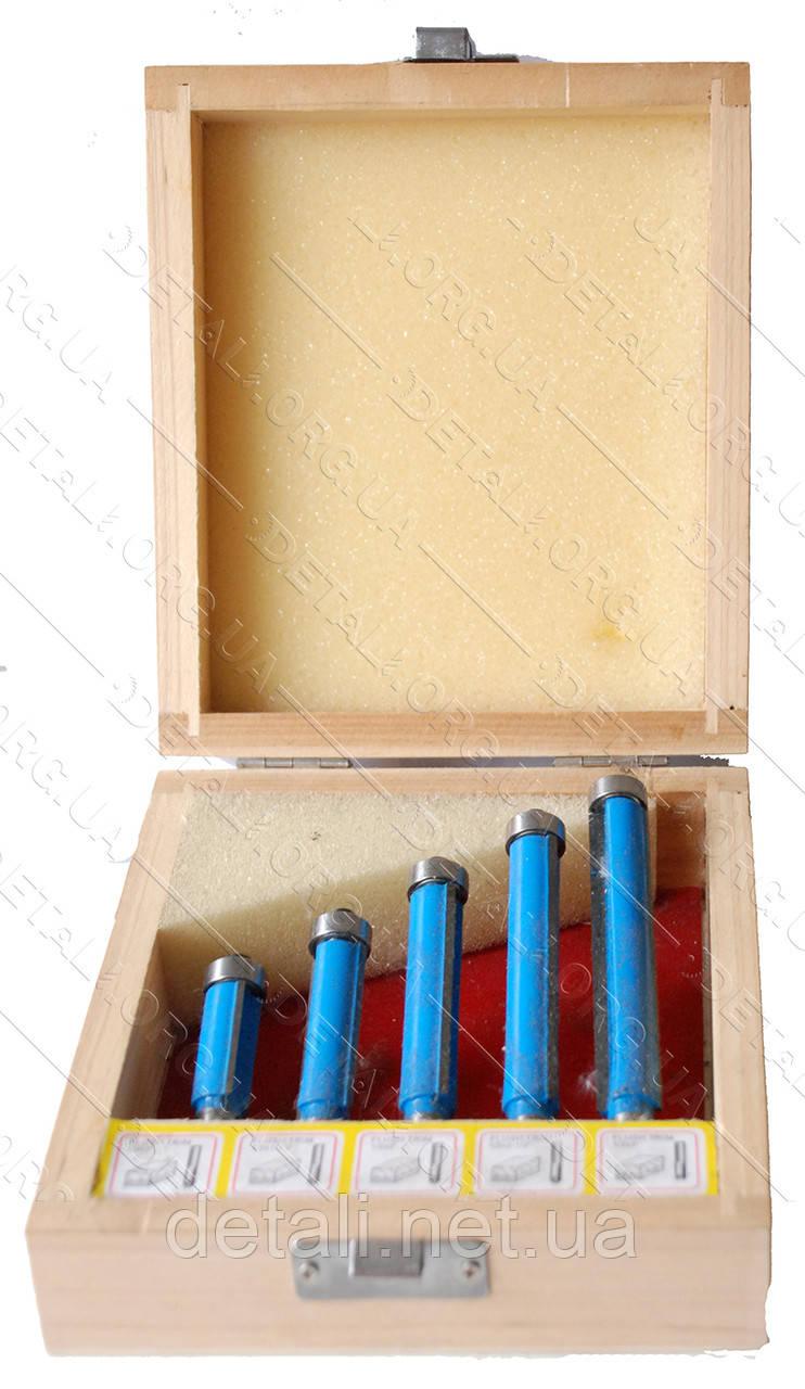 Фрезы набор кромочных прямых (5-шт)