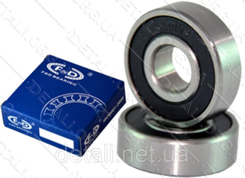 Подшипник F&D 6206 RS (30*62*16) резина