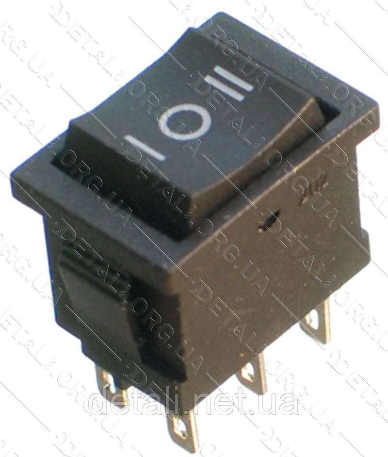 Тумблер 3 положения 6 контактов 15*21 mm 6A (возвратная)