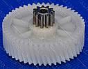 Шестерня мясорубки Бриз, Аксион (D42/11 мм, H25/11.5 мм, зуб 50/11) мет/пластик - 16-H-19, фото 2