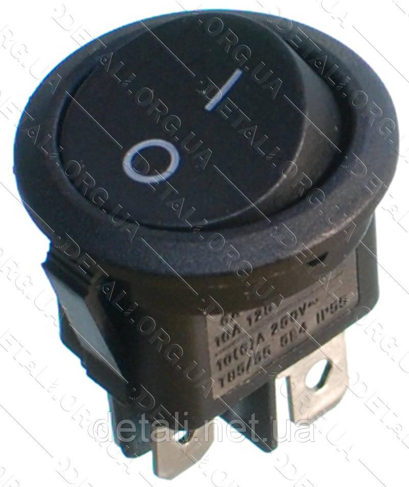 Тумблер круглий 2 положення 4 контакту d23 mm