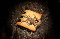 """Небольшой  кошелек """"Stem-Skull"""" из натуральной кожи"""