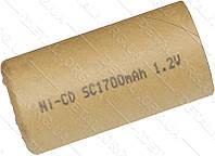 Банка Ni-CD 1700 mAh 1.2V для аккумулятора шуруповерта d22 h43