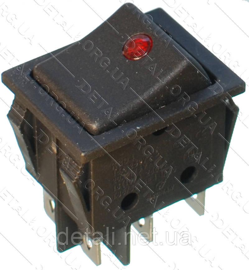 Тумблер 2 положення 6 контактів 25*32 mm світлодіод 16A