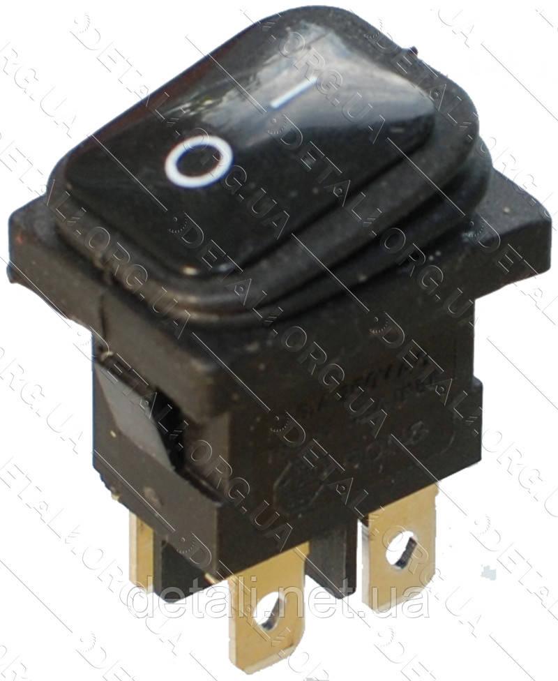 Тумблер 2 положення 4 контакту 18*23 mm з пильником 6A