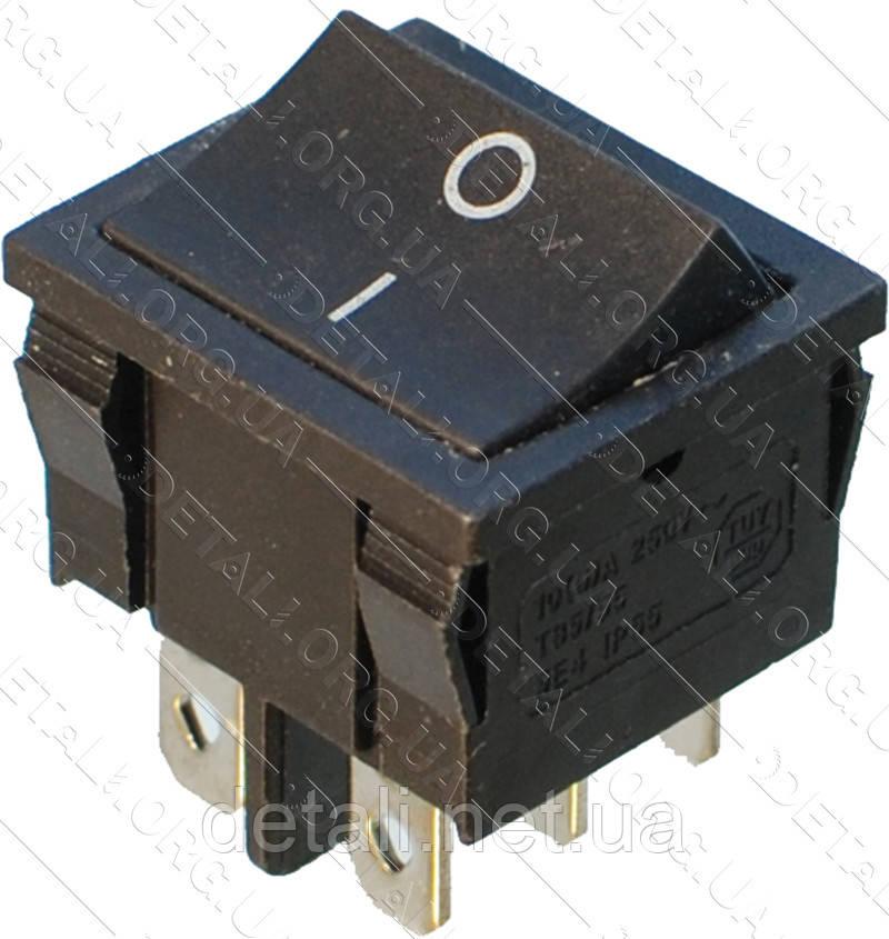 Тумблер 2 положения 6 контактов 21*25 mm 6A