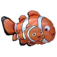 Фольгированный шар  Рыбы-клоуны 70см х 93см Оранжевый