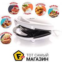 Аппарат 6 в 1 мультимейкер (мультипекарь) DEX DSM 26 для бутербродов, бельгийских вафель, орешков, пончиков, кексов, гриля