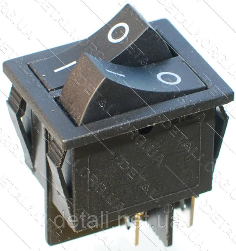 Тумблер двойной 2 положения 4 контакта 25*31 mm