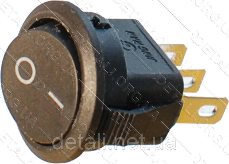 Тумблер 2 положення 3 контакту круглий d17 mm 6A