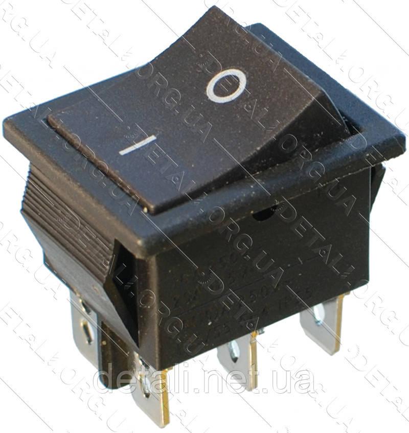 Тумблер 2 положення 6 контактів 25*31 mm 16A