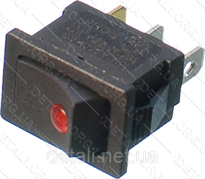 Тумблер 2 положення 3 контакту 15*21 mm світлодіод 6A
