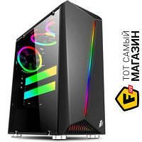 Корпус 1st Player Rainbow-R3 Color LED Black, no/PSU