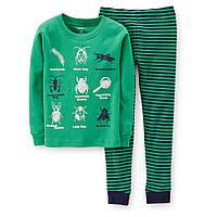 Пижама хб  зеленая Carters (Картерс) (2Т)