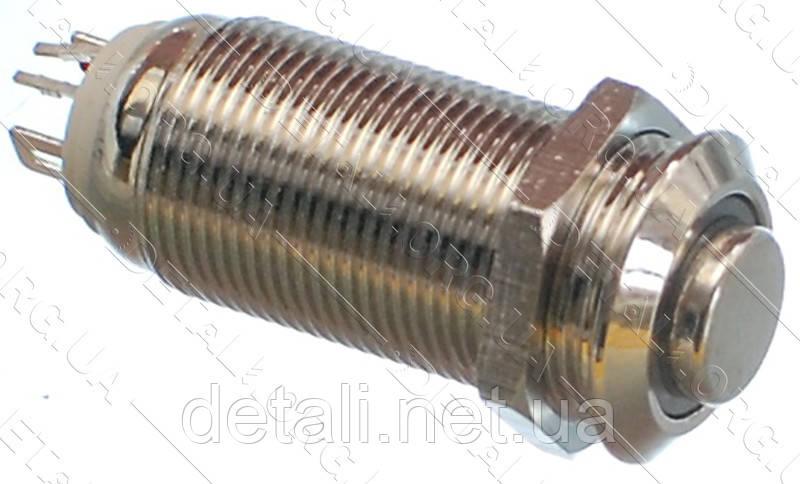 Кнопка антивандальна d14mm різьблення 12mm h30mm 2 положення 4 контакту індикація