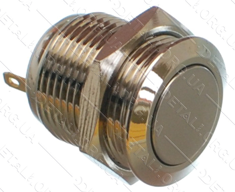 Кнопка антивандальна d18mm різьблення 16mm h19mm 2 контакту