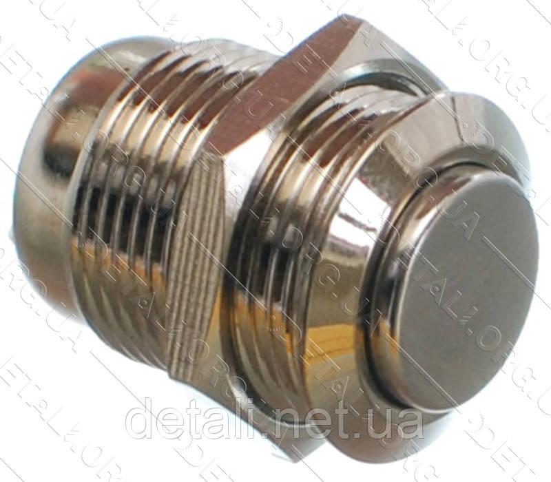 Кнопка антивандальная d18mm резьба 16mm h23mm 2 положения 2 контакта