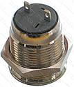 Кнопка антивандальная d18mm резьба 16mm h23mm 2 положения 2 контакта, фото 2