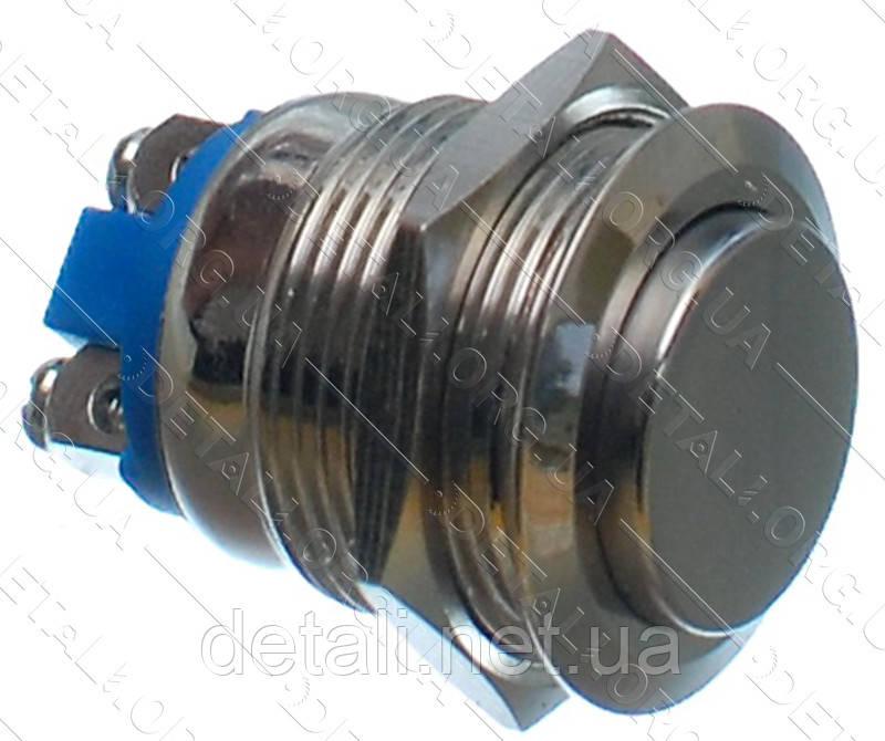 Кнопка антивандальная d22mm резьба 19mm h29mm 2 контакта под винт