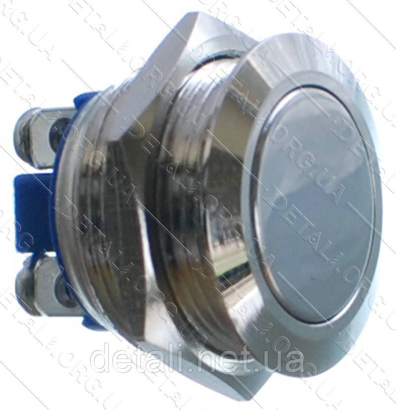 Кнопка антивандальна d22mm різьблення 19mm h21mm 2 контакту під гвинт