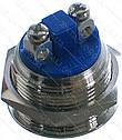 Кнопка антивандальна d22mm різьблення 19mm h21mm 2 контакту під гвинт, фото 2
